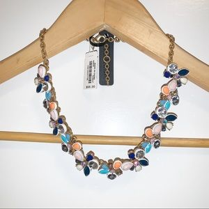 J. Crew Factory Crystal Collage Necklace-NWT